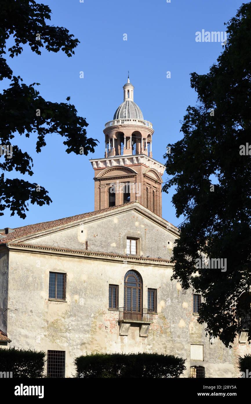 Mantua, Italien, der Palazzo Ducale und der Glockenturm von Santa Barbara Stockbild