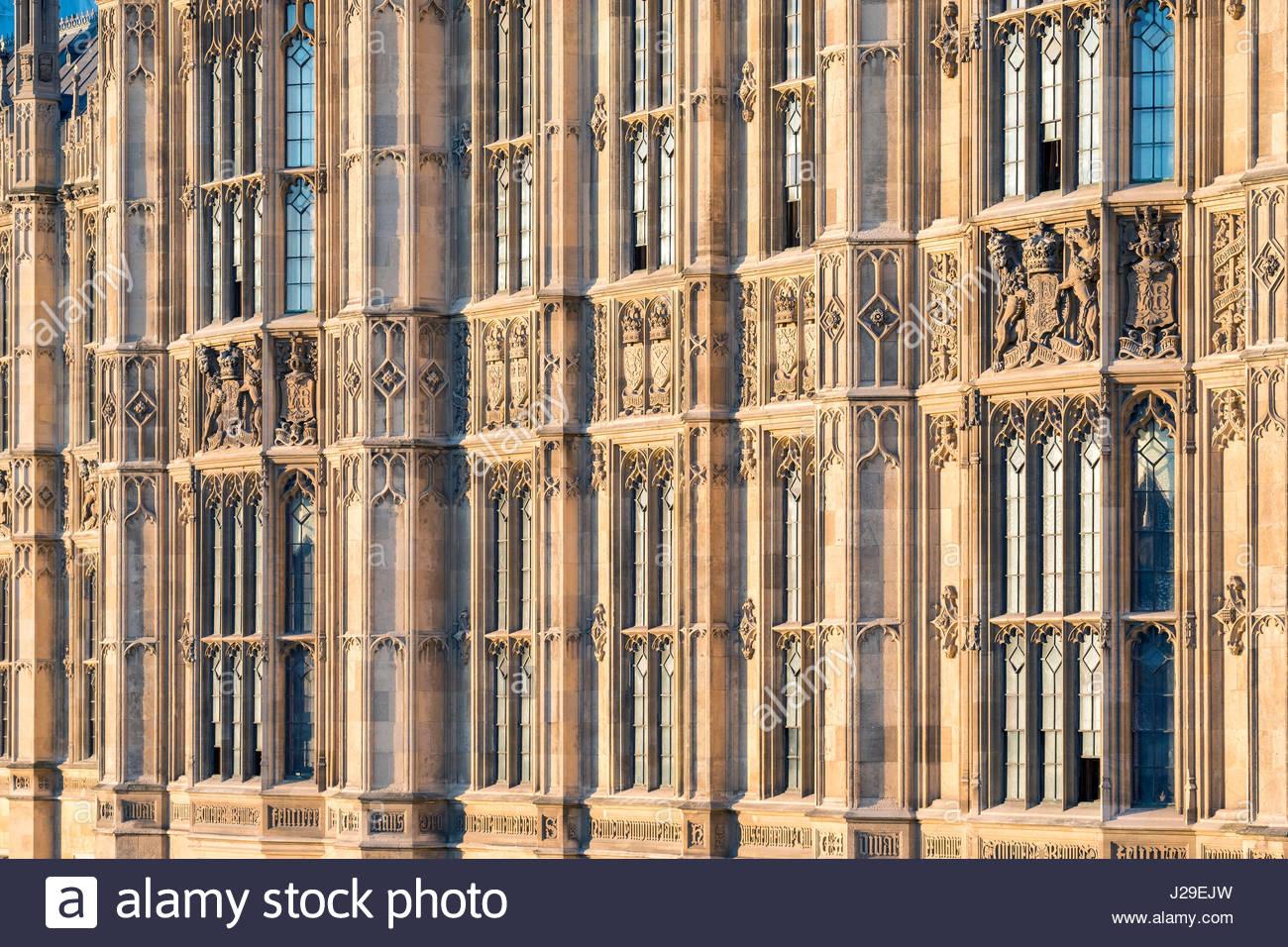 United Kingdom, England, London. Palast von Westminster, die Häuser des Parlaments des Vereinigten Königreichs, Stockbild