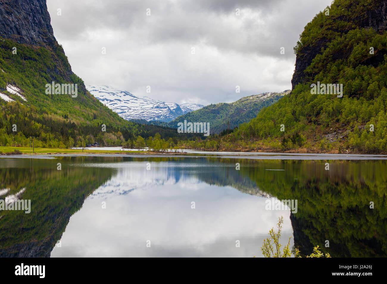 Typische Landschaft West in Norwegen Stockbild