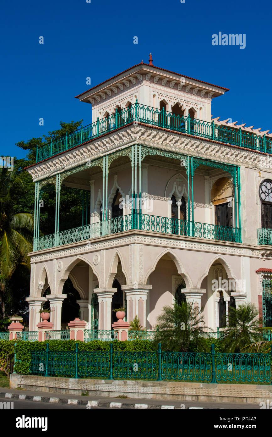 Kuba. Cienfuegos. Palacio de Valle, gebaut im Jahre 1919 in einem reich verzierten marokkanischen Stil war ein Kasino Stockbild