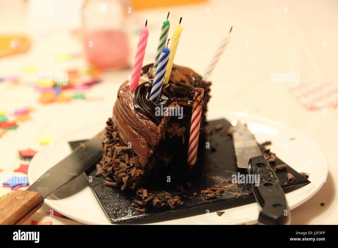 Schokolade Geburtstagskuchen Die After Party Reste Der