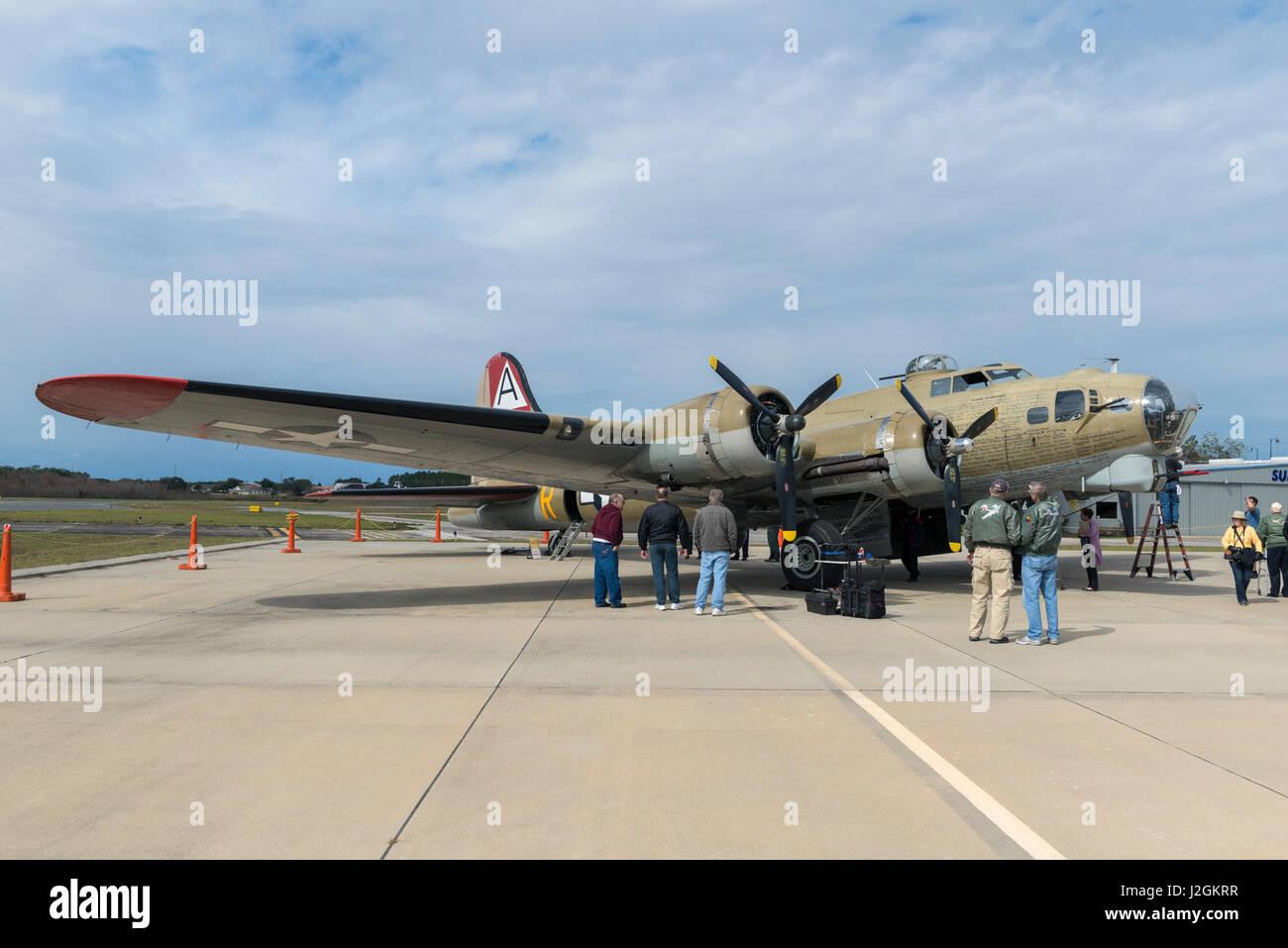 USA, Florida, Leesburg, amerikanische b-17, Boeing (großformatige Größen erhältlich) Stockbild
