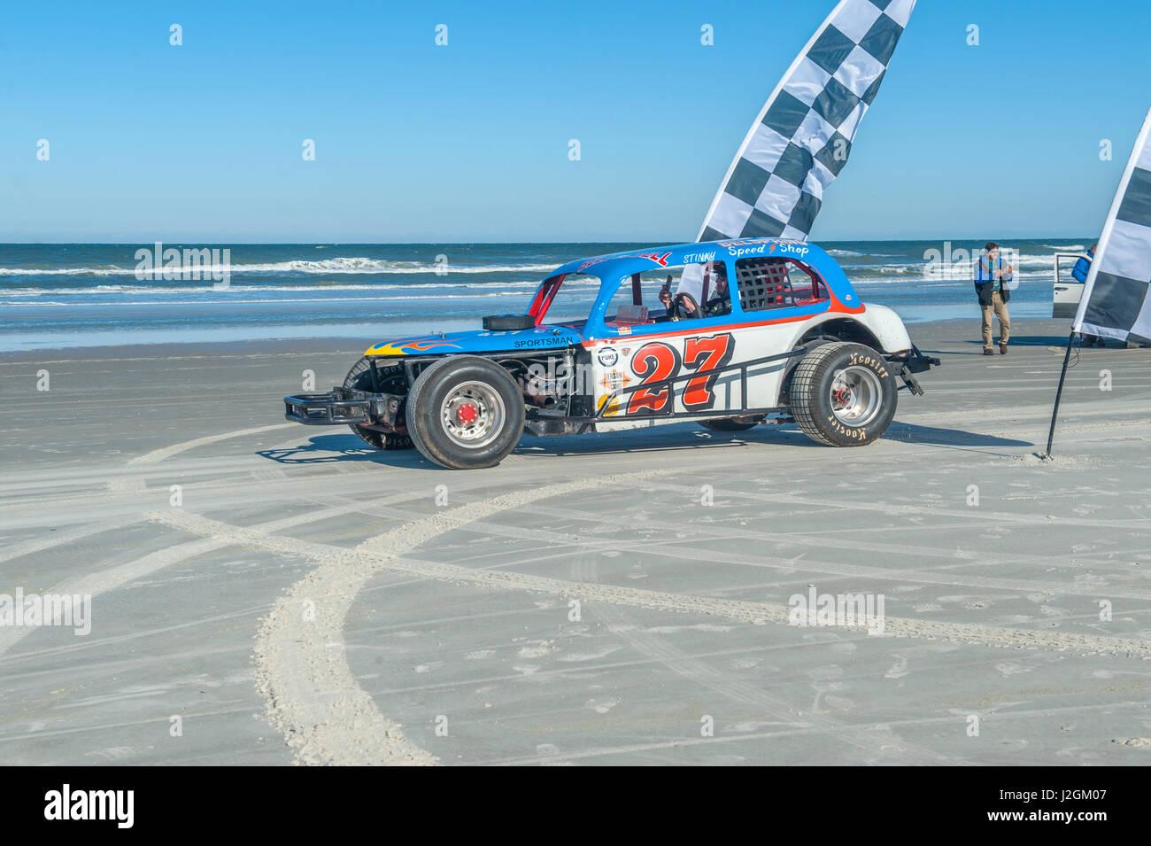 Antike NASCAR Auto Nord drehen, Ponce Inlet, Florida, USA Stockbild