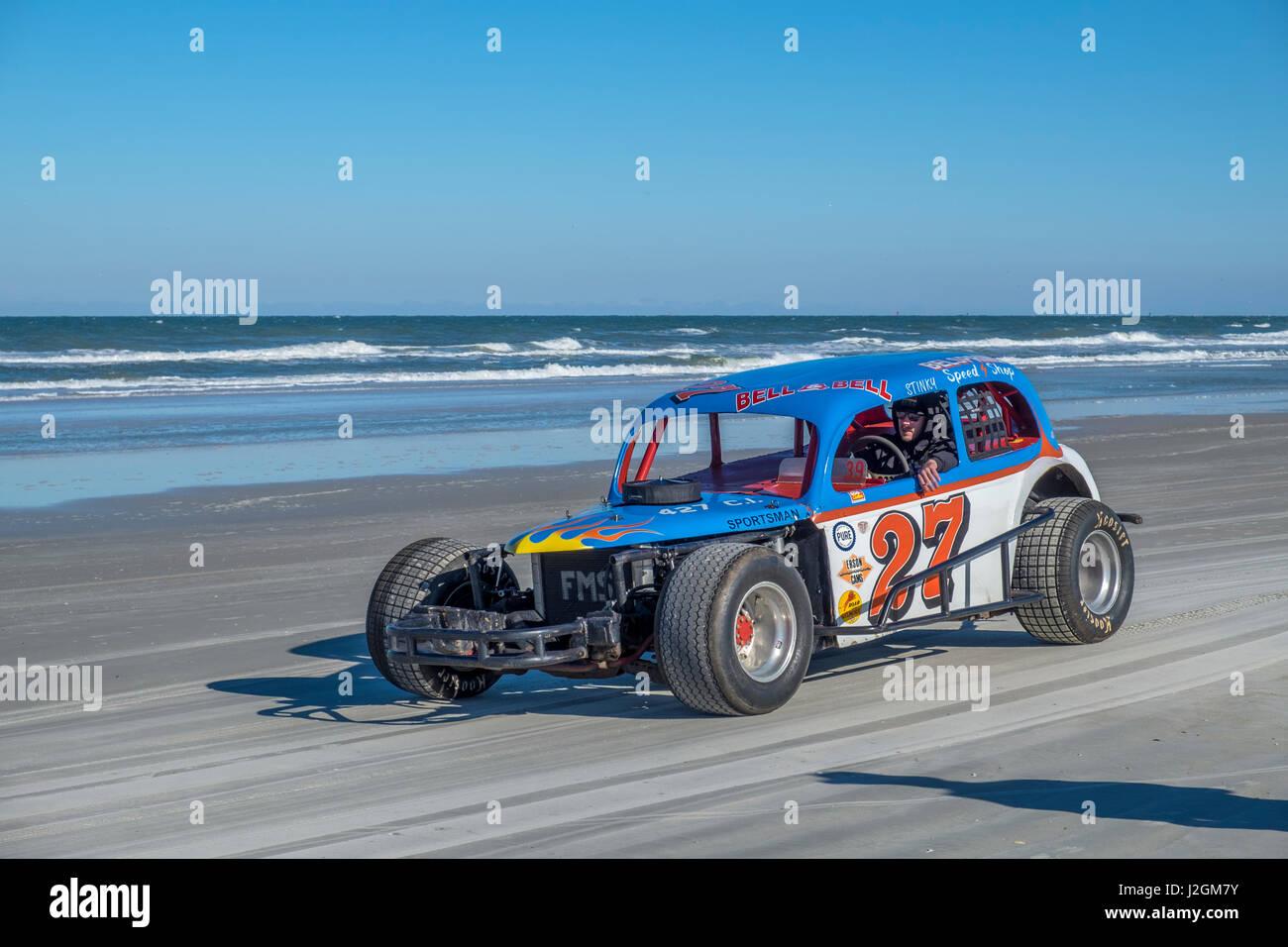 Antike NASCAR Autos, Norden drehen, Ponce Inlet, Florida, USA Stockbild