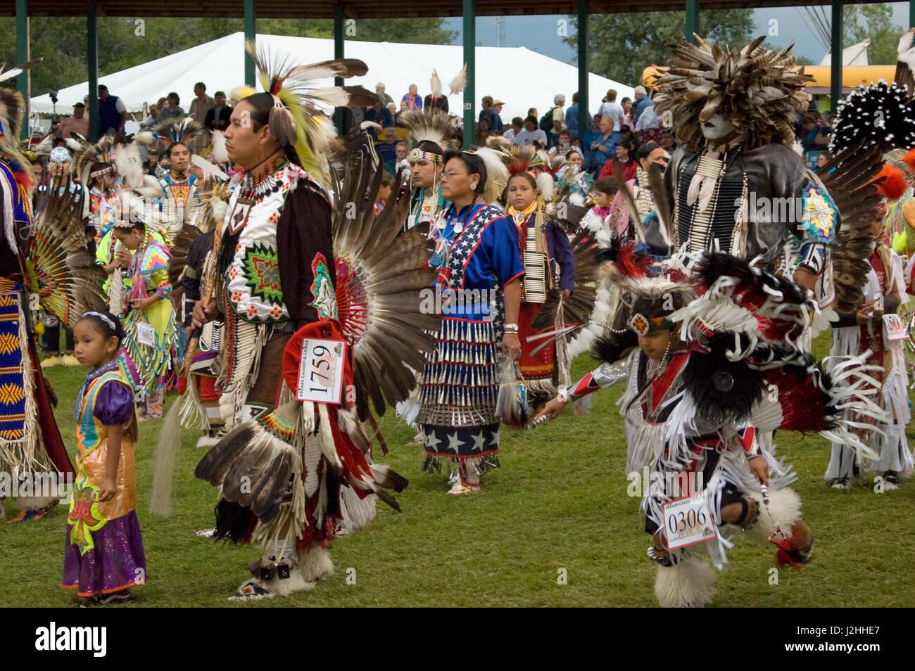 Traditionellen Pow Wow, Fort Berthold Stockbild