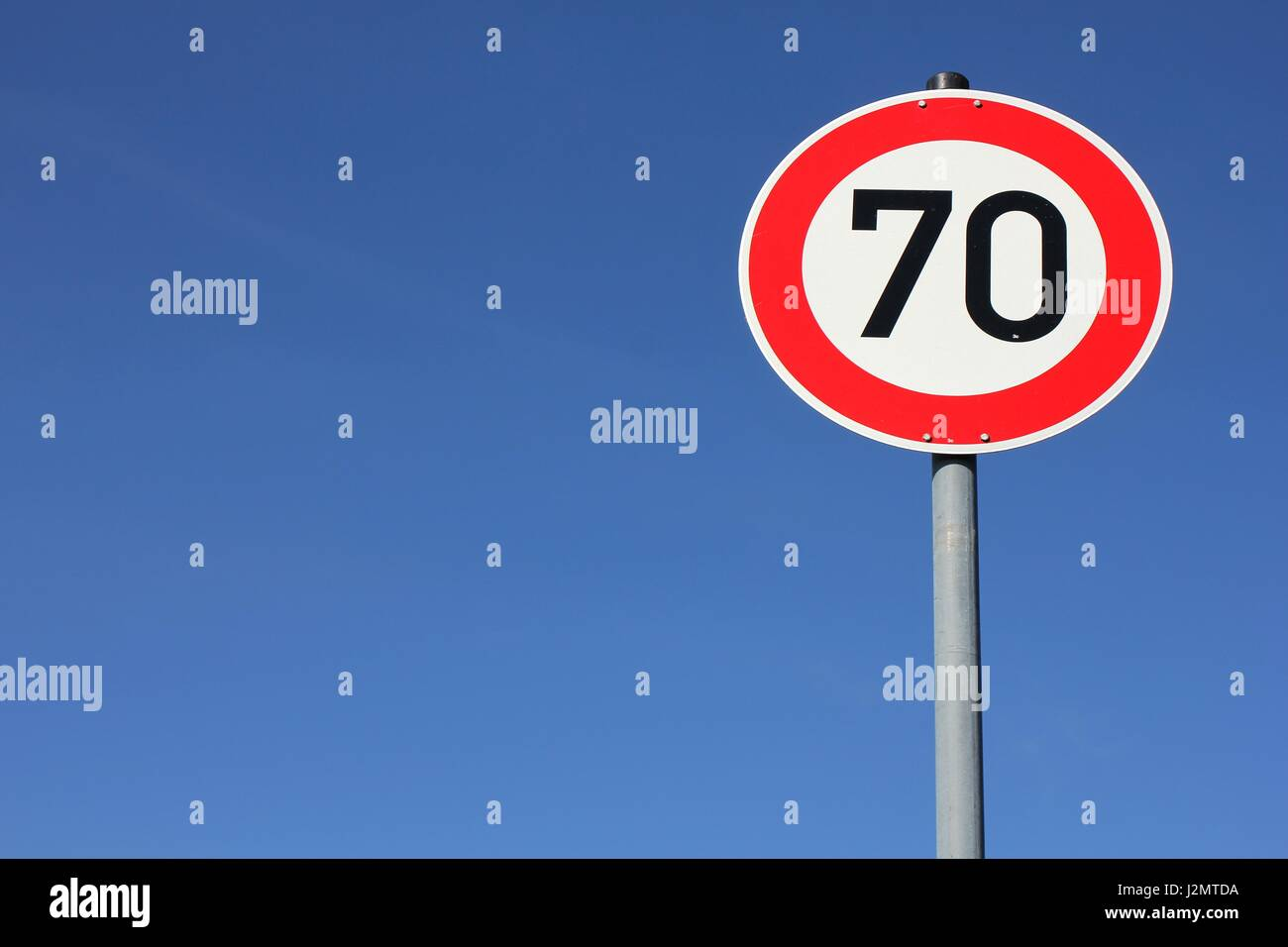 german speed limit traffic sign stockfotos german speed. Black Bedroom Furniture Sets. Home Design Ideas
