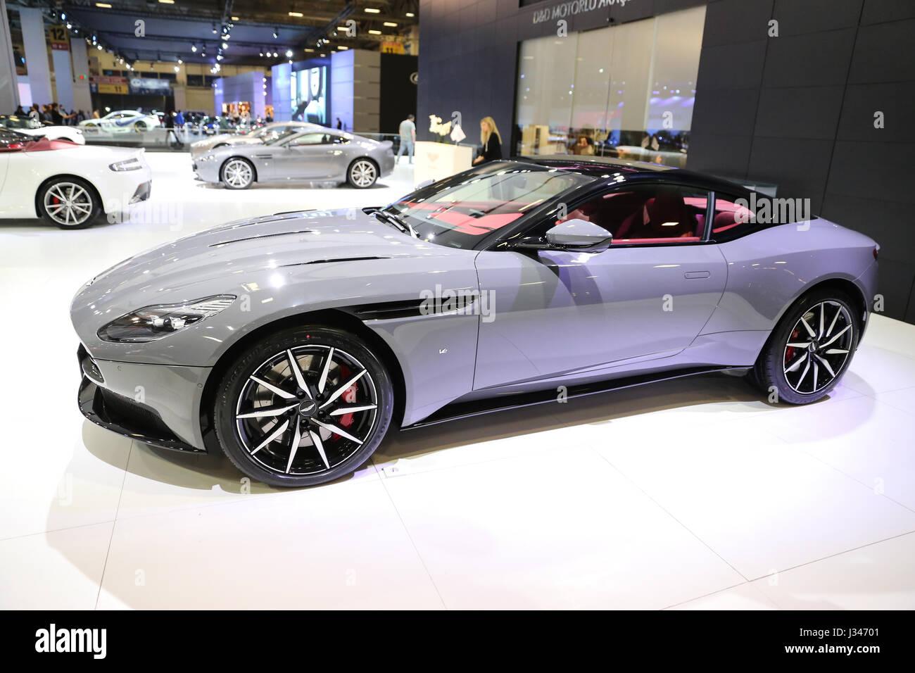ISTANBUL, Türkei - 22. April 2017: Aston Martin DB11 Sackler Autoshow Istanbul Stockbild