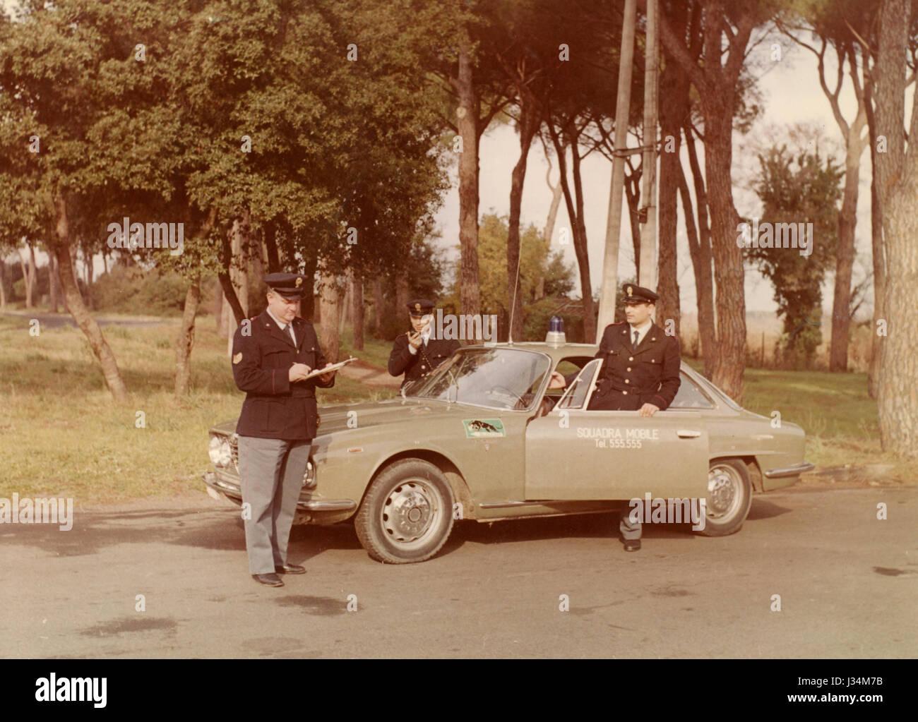 Alfa Romeo 2600 Sprint Polizeiauto, Italien Stockbild