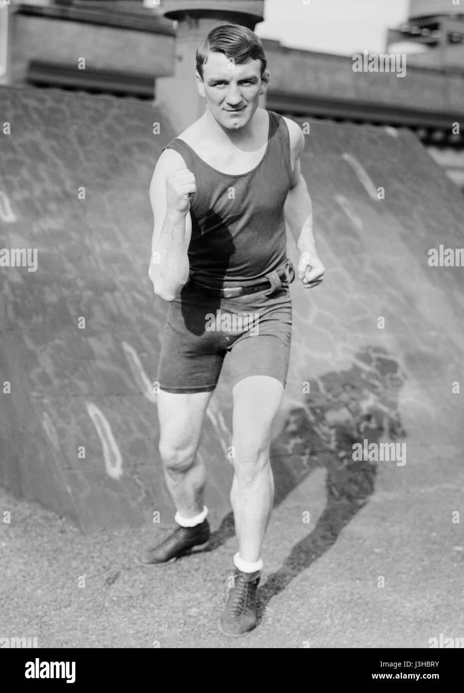 Vintage Foto von Boxer Freddie Welsh (1886 ? 1927) ? World Lightweight Champion 1914 ? 1917. Walisisch (richtiger Stockbild
