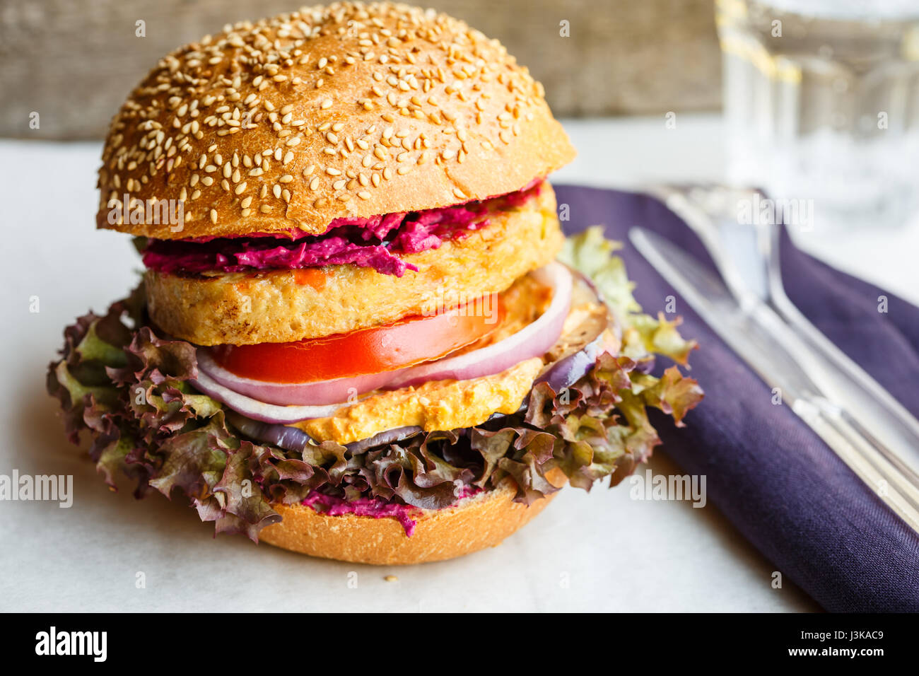 Veggie-burger Stockbild