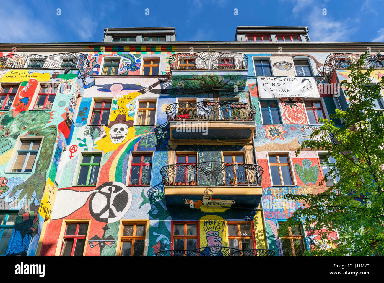 Immobilien stockfotos immobilien bilder alamy - Wandmalerei berlin ...
