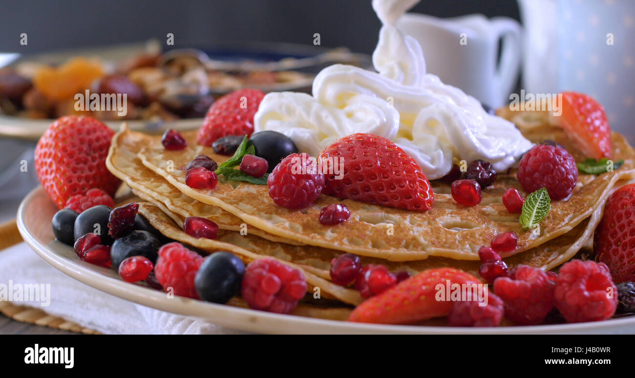 pancake stockfotos pancake bilder alamy. Black Bedroom Furniture Sets. Home Design Ideas
