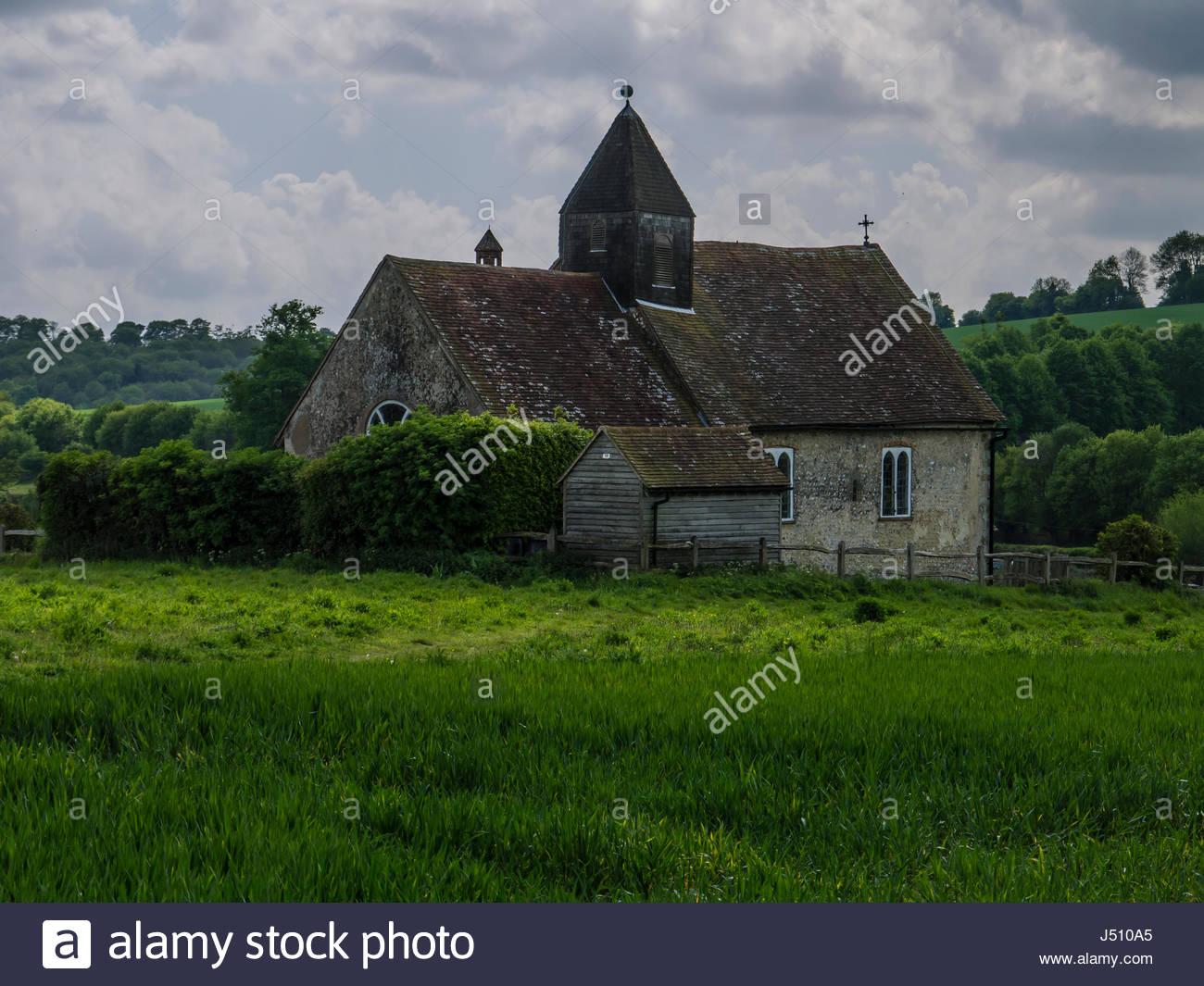 St.-Hubertus Kirche Idsworth Finchdean Hampshire England Stockbild