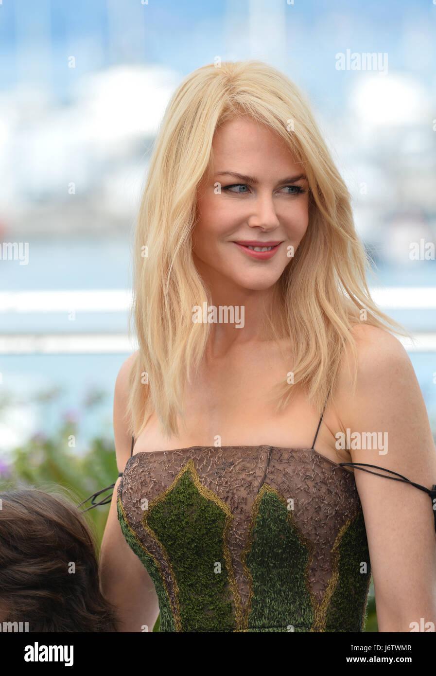 """Cannes, Frankreich. 22. Mai 2017. Nicole Kidman bei den Fototermin für """"The Killing einen Heiligen Hirsch"""" auf der Stockfoto"""