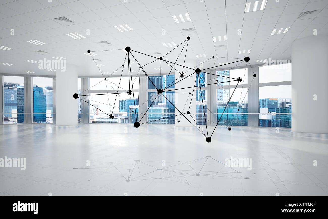 Netzwerke und drahtlose Verbindung als Konzept für die effektive moderne business Stockbild