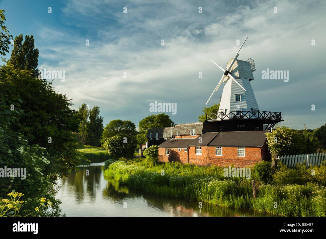 Frühling-Nachmittag am Galgen Mühle in Rye, East Sussex, England. Stockbild