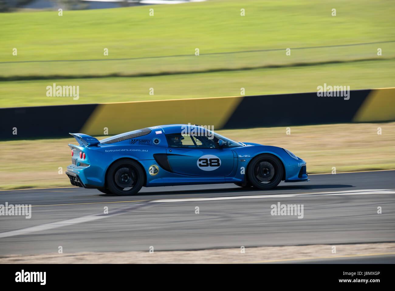 Motorsport-Park Sydney, Australien. 28. Mai 2017.  Martin Duursma zeigt, was die Lotus geht. Anthony fesselte/Alamy Stockbild