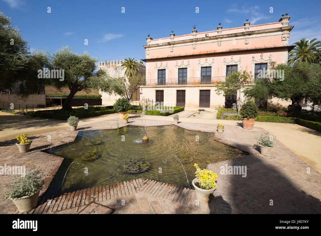 Palacio de Villavicencio innerhalb der Alcazar, Jerez De La Frontera, Cadiz Provinz, Andalusien, Spanien, Europa Stockbild