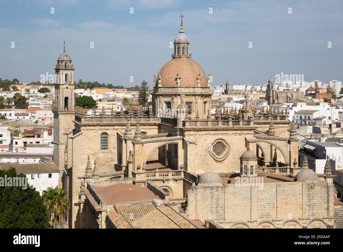 Jerez De La Frontera Kathedrale, Jerez De La Frontera, Cadiz Provinz, Andalusien, Spanien, Europa Stockbild