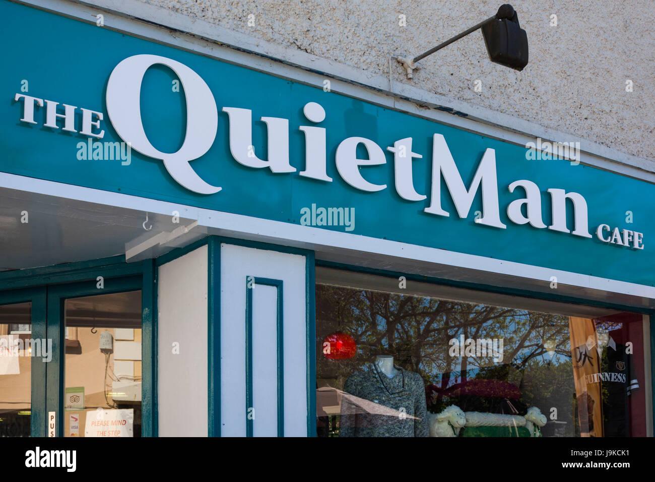 Irland, County Galway, Cong, der ruhige Mann Cafe, benannt nach der John Wayne Film in Cong, 1951 Stockbild