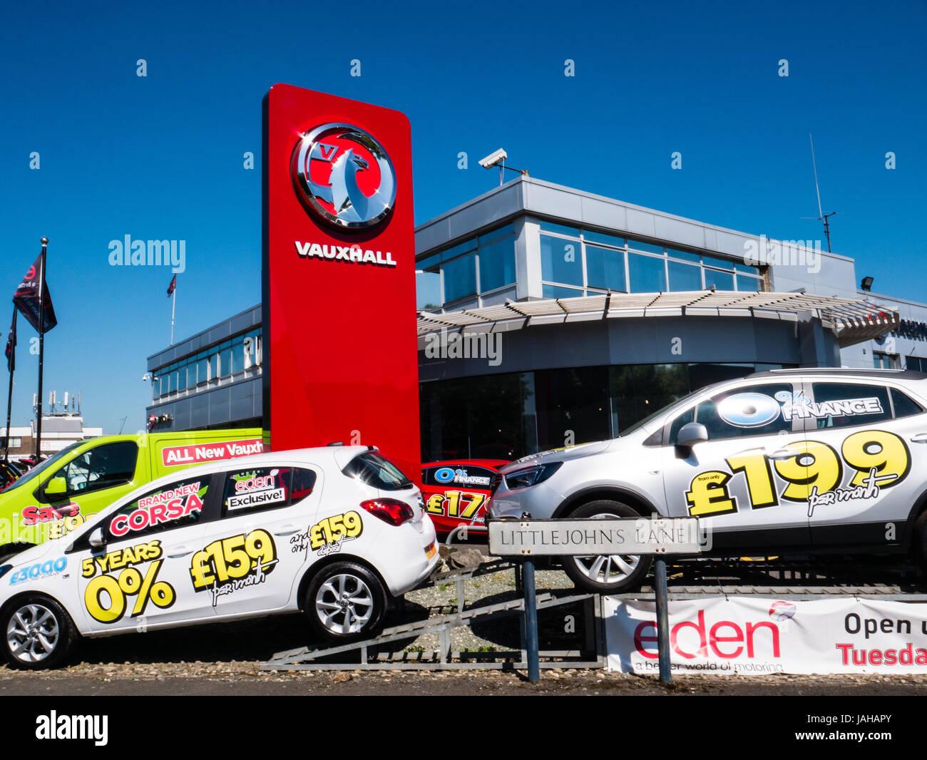 Opel Autohaus, Reading, Berkshire, Reading, England Stockbild