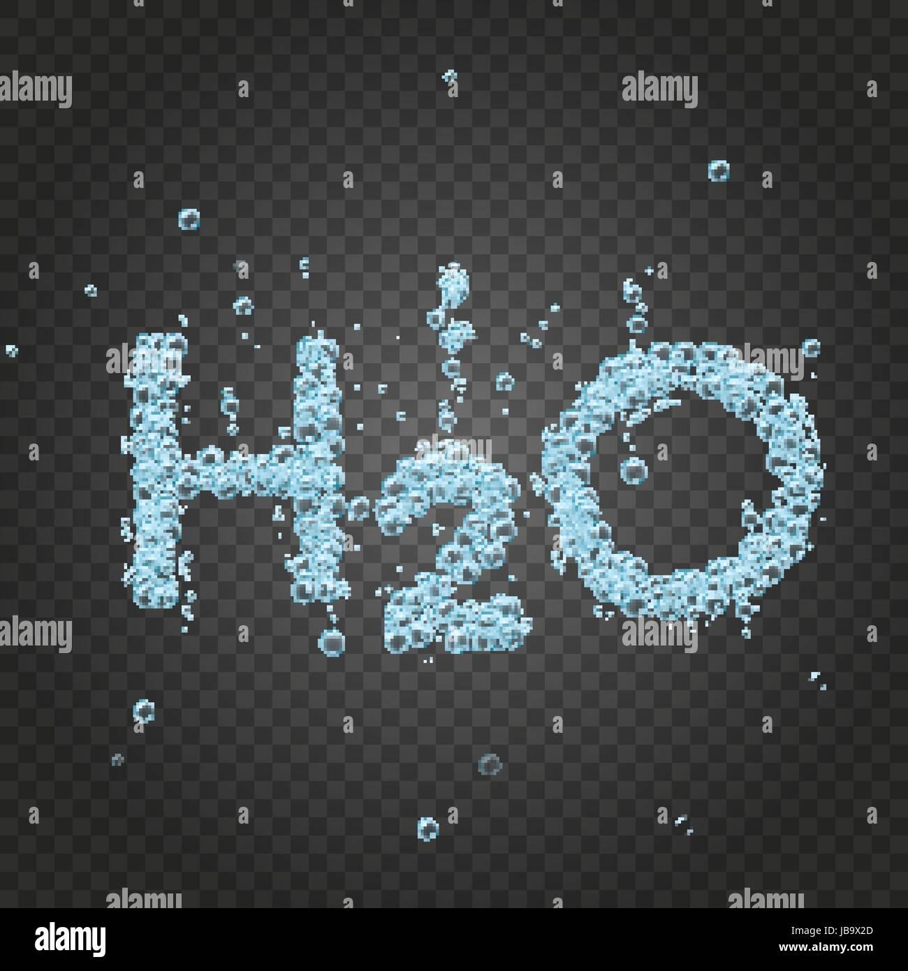 Wasser-Blase Hintergrund h2o Stockbild