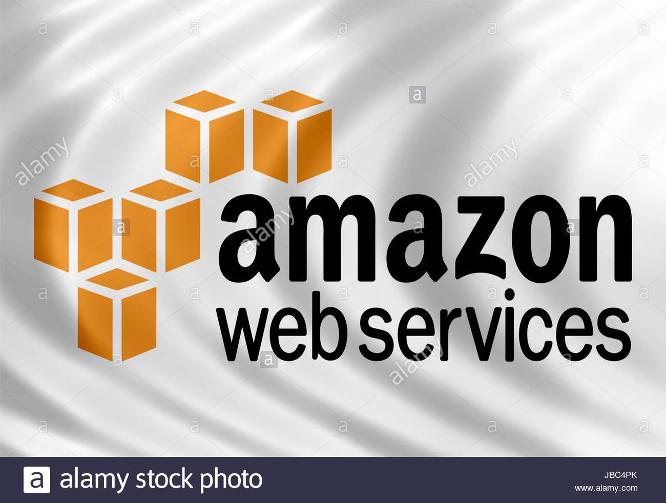 Amazon Web Services Symbol Logo banner Stockbild