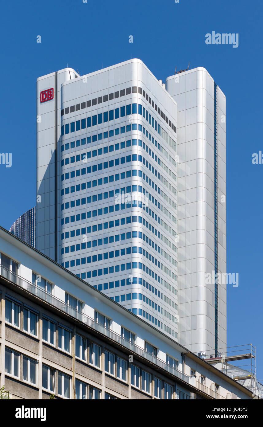 Deutsche Bahn Gebäude, Frankfurt am Main, Deutschland Stockbild