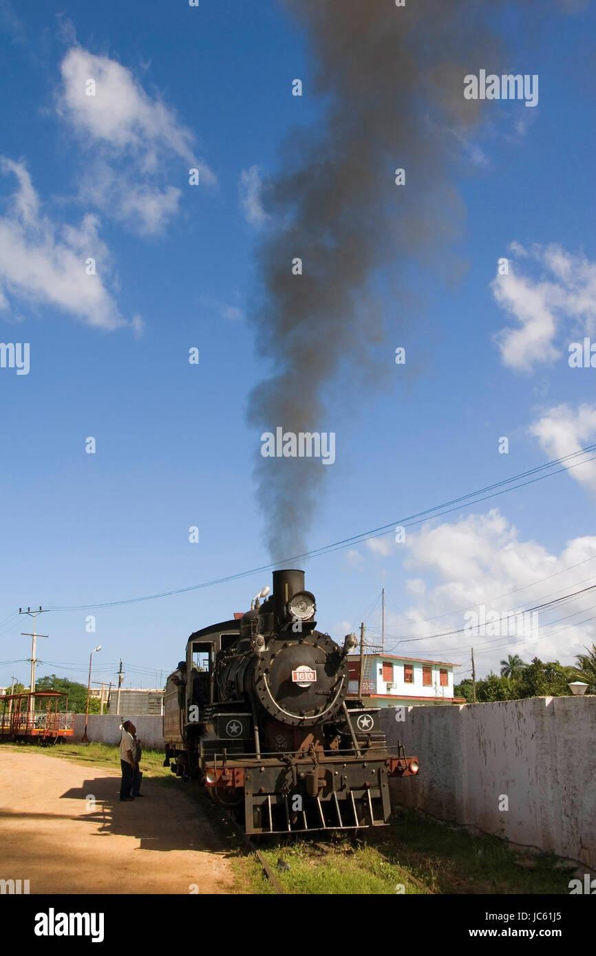 Kuba, Karibik, Cardenas, Dampf-Eisenbahn, Kuba, Karibik, Dampfeisenbahn Stockbild