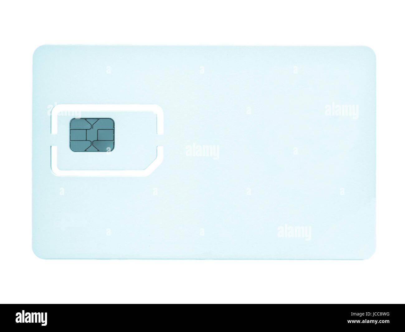 SIM-Karte für Handy oder Smartphone oder Tablet-Computer - cool Cyanotypie Stockbild