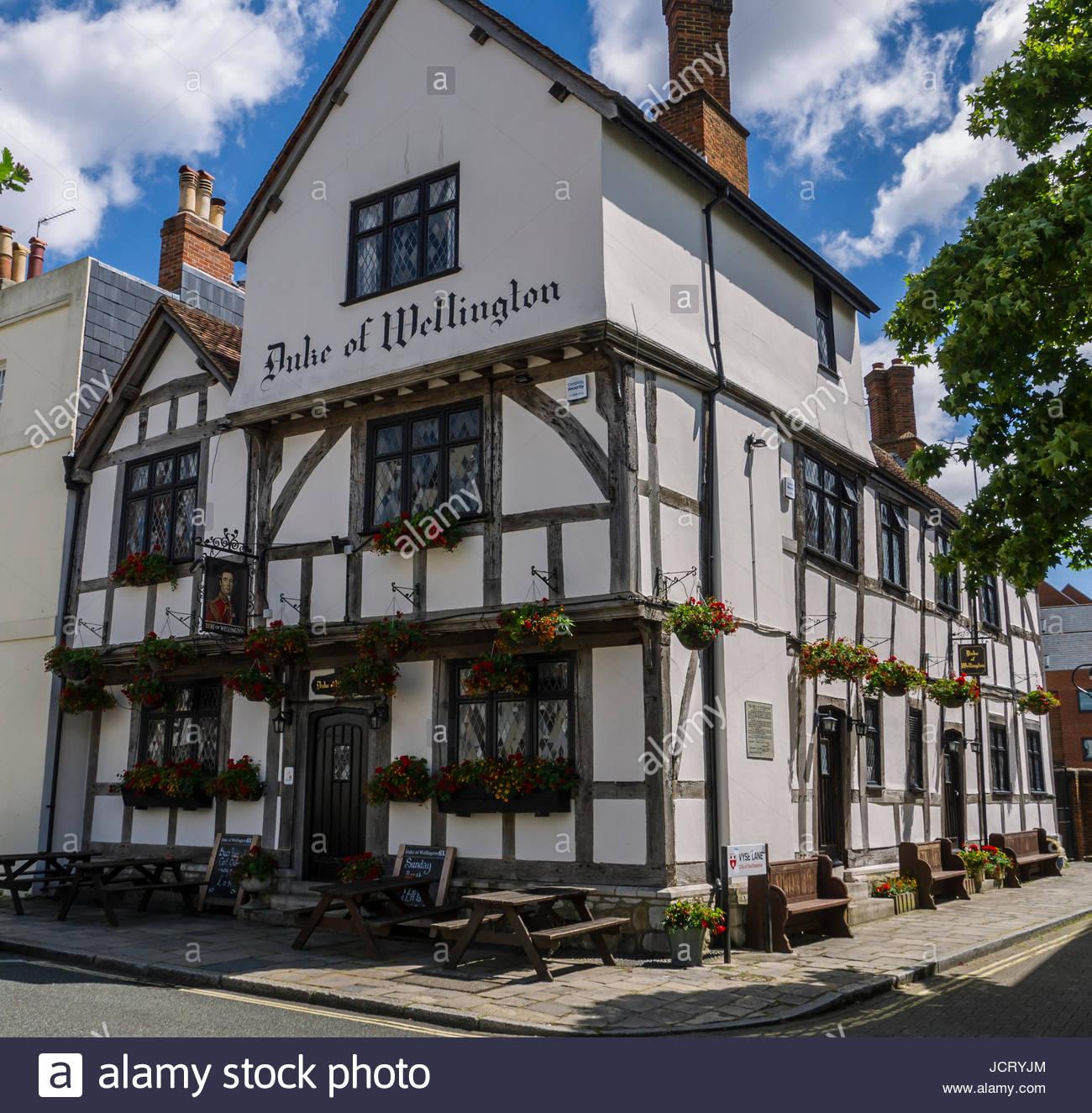 Herzog von Wellington Pub Southampton Hampshire England Stockbild