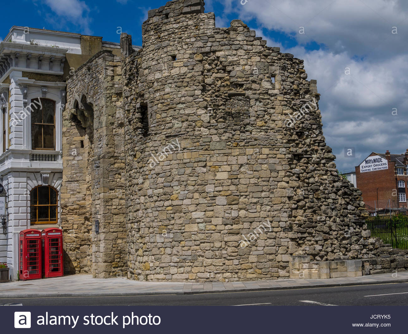 Alte Stadt Mauer Southampton Hampshire England Stockbild