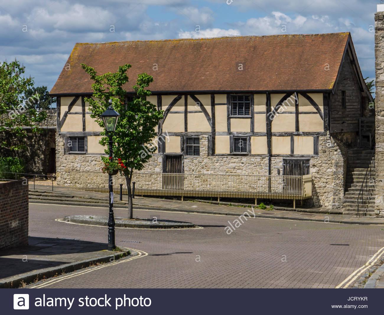 Southampton Wand Tudor Händler Rathaus Hampshire England Stockbild