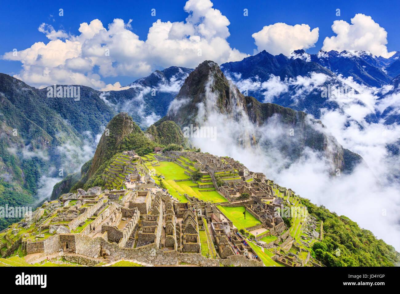 Machu Picchu, Peru. UNESCO-Weltkulturerbe. Eines der neuen sieben Weltwunder Stockbild