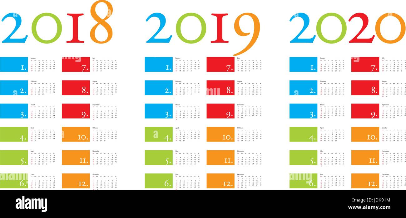 calendar 2018 vector stockfotos calendar 2018 vector. Black Bedroom Furniture Sets. Home Design Ideas
