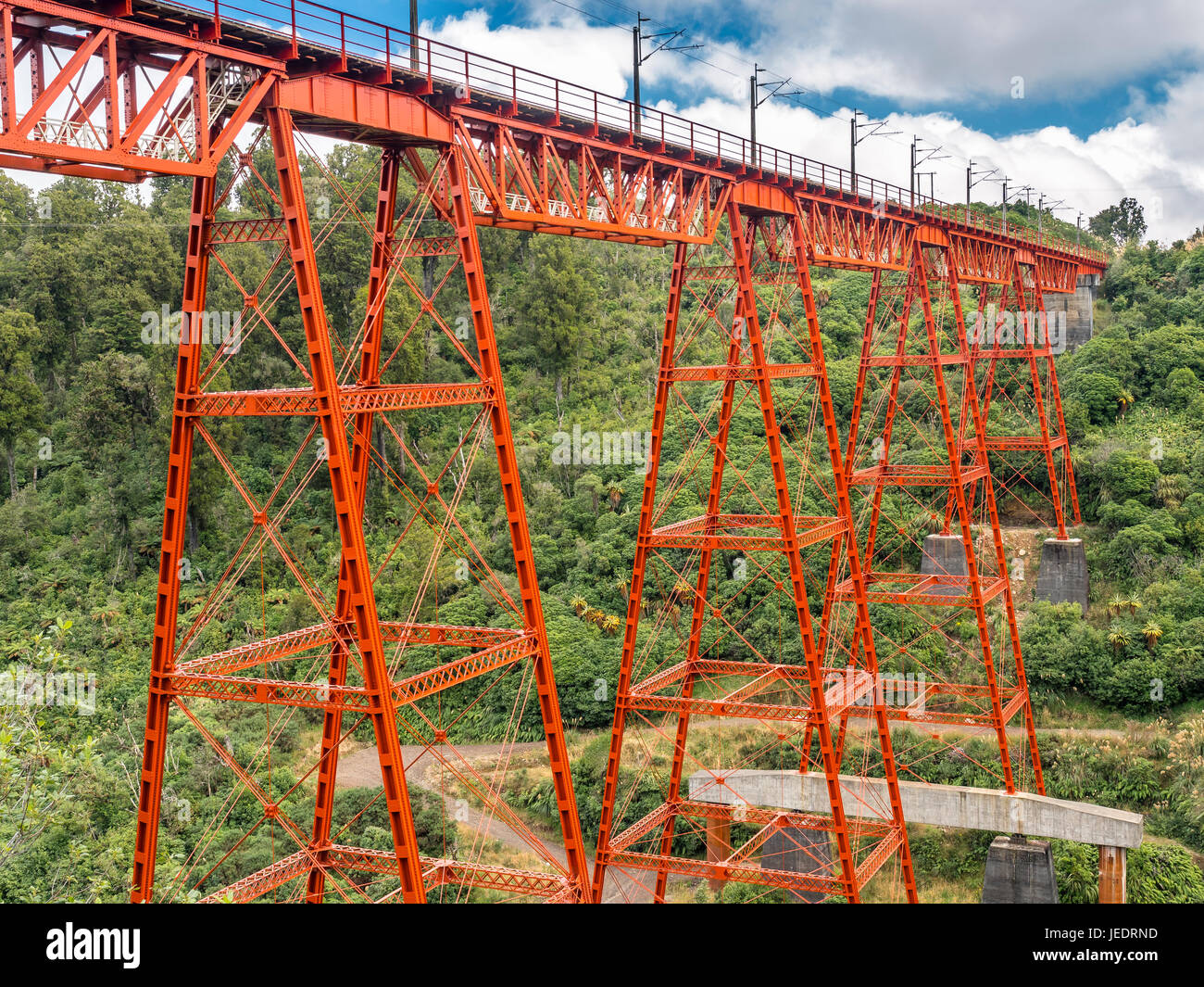 Neuseeland, Nordinsel, Tongariro National Park, Makatote Viadukt Stockbild