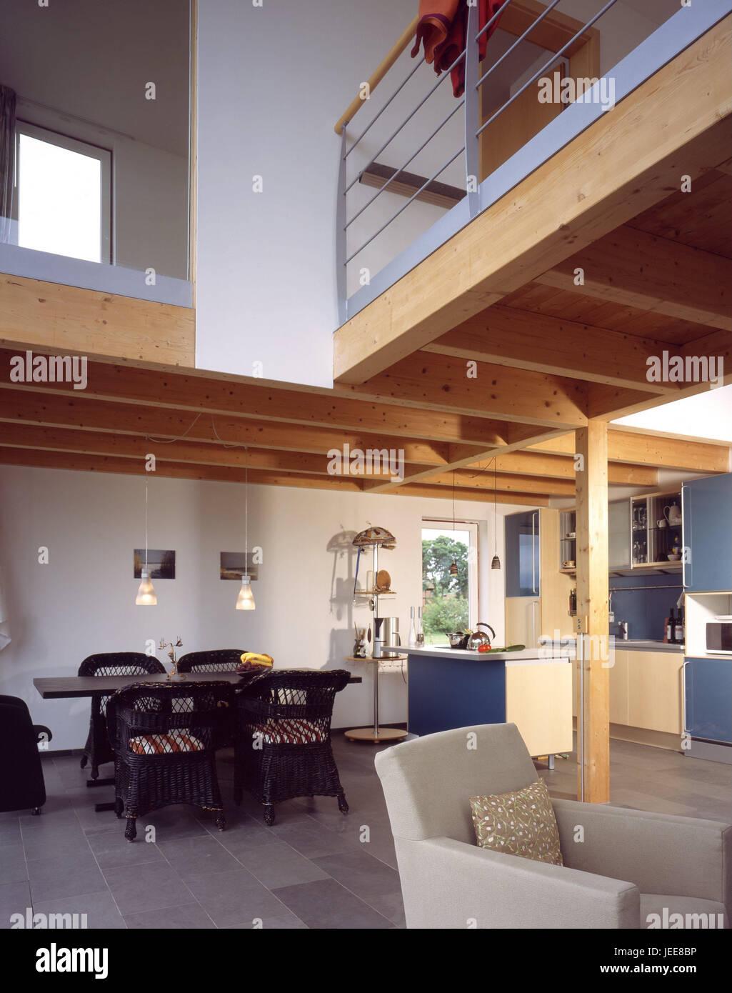 Einfamilienhaus Wohnung, Küche, Esszimmer, Esstisch, Obergeschoss ...