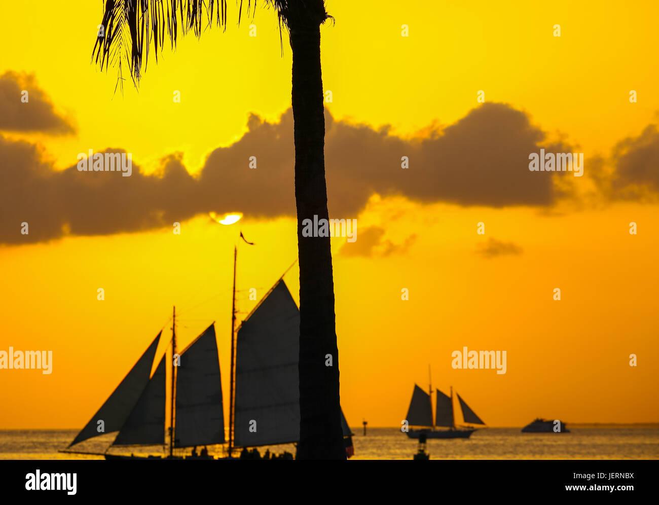 Key West glühenden Himmel Stockbild