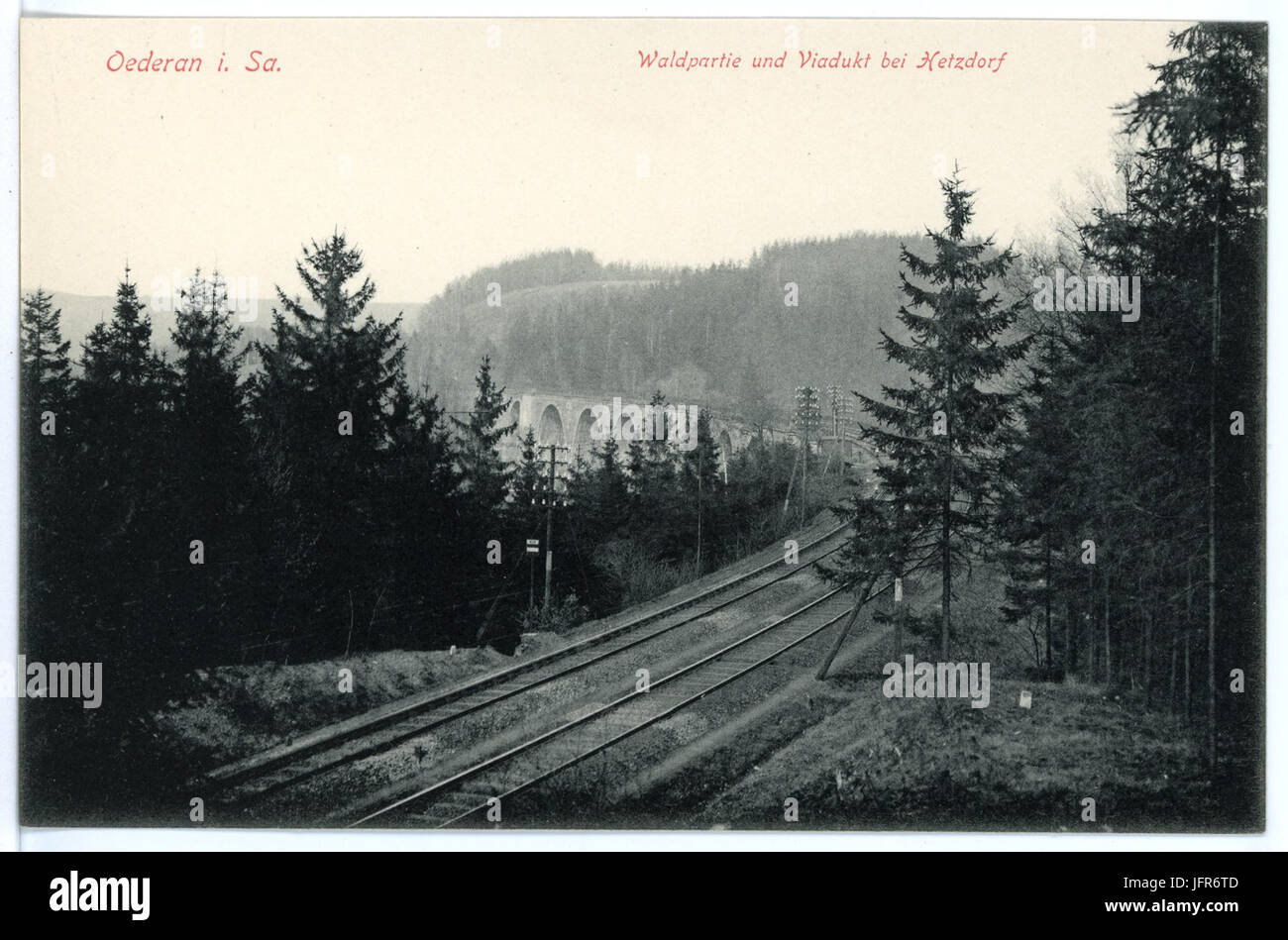 15621-Oederan-1913-Viadukt Bei Hetzdorf-Brück & Sohn Kunstverlag Stockbild