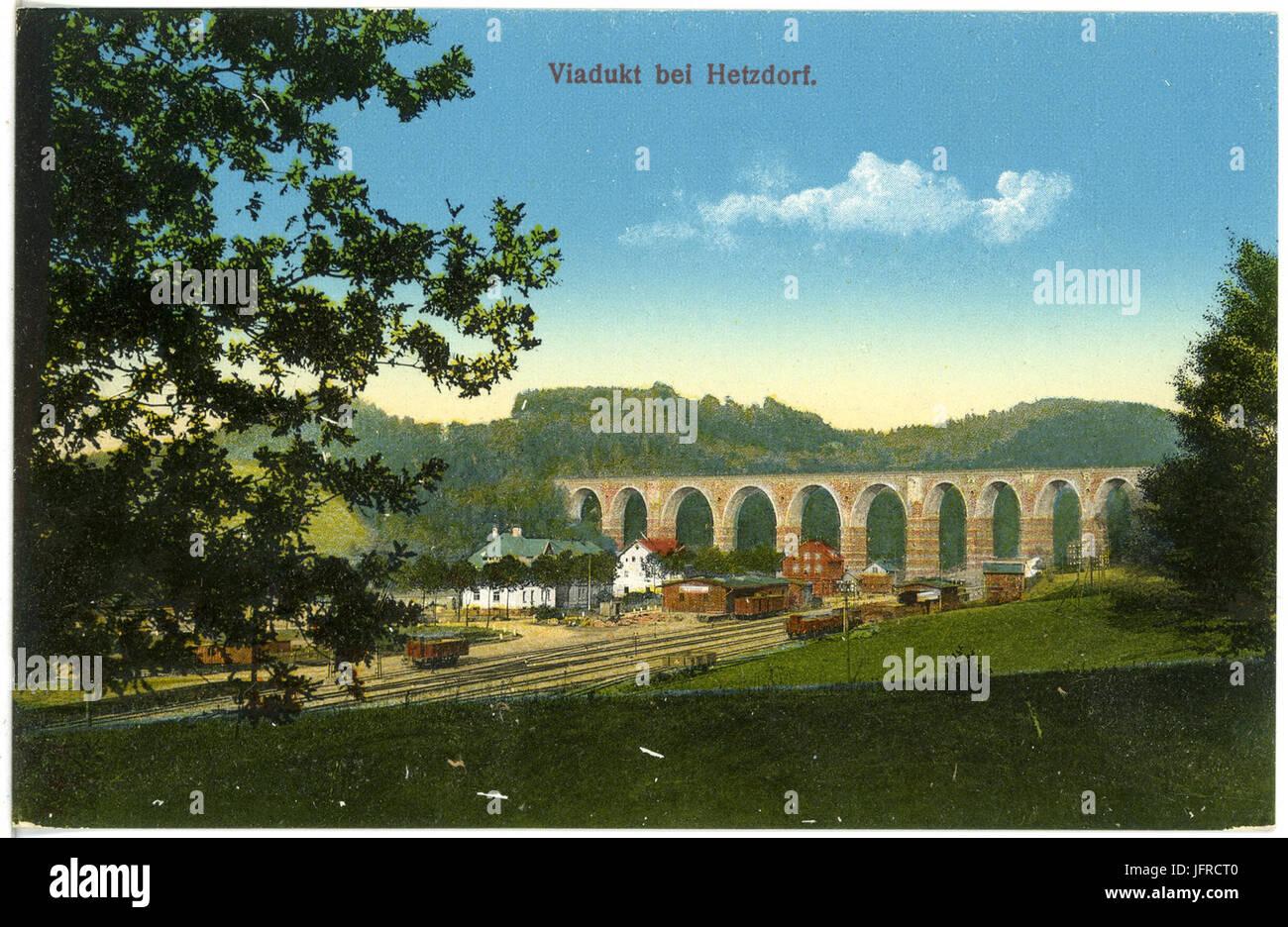 19474-Hetzdorf (Flöhatal)-1915-Viadukt-Brück & Sohn Kunstverlag Stockbild