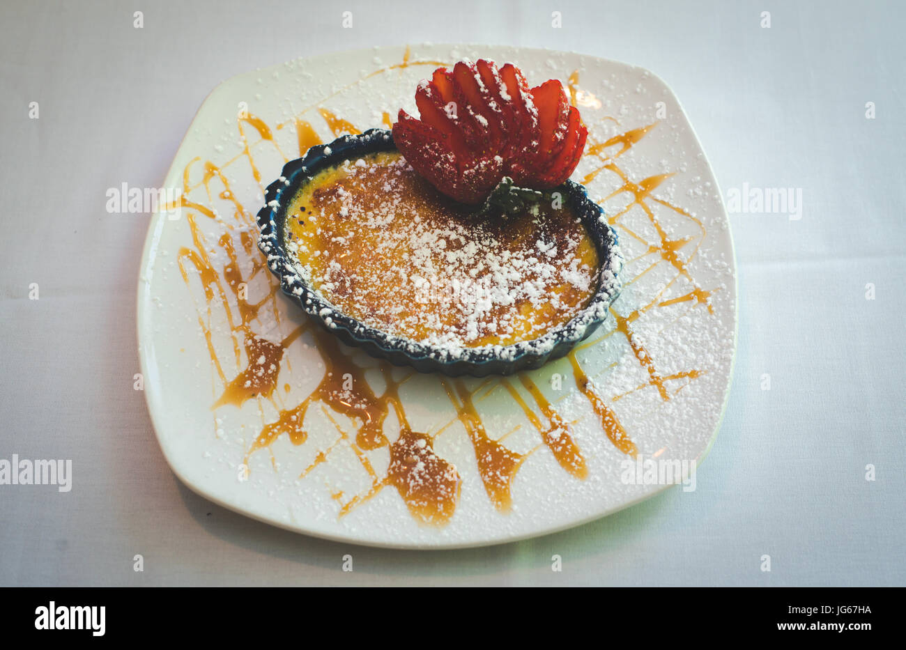 Dessert auf ein gehobenes Restaurant. Stockbild