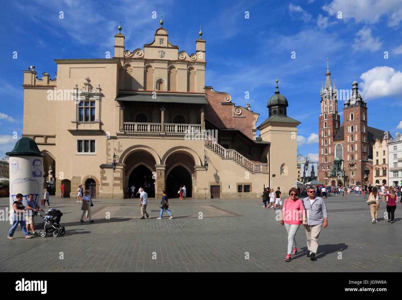 Tuchhallen am Rynek, Krakau, Polen, Europa Stockbild