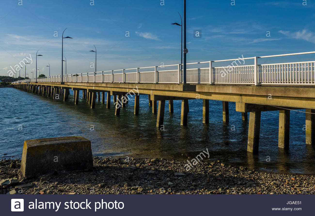Hayling Island Bridge Hampshire England Stockbild