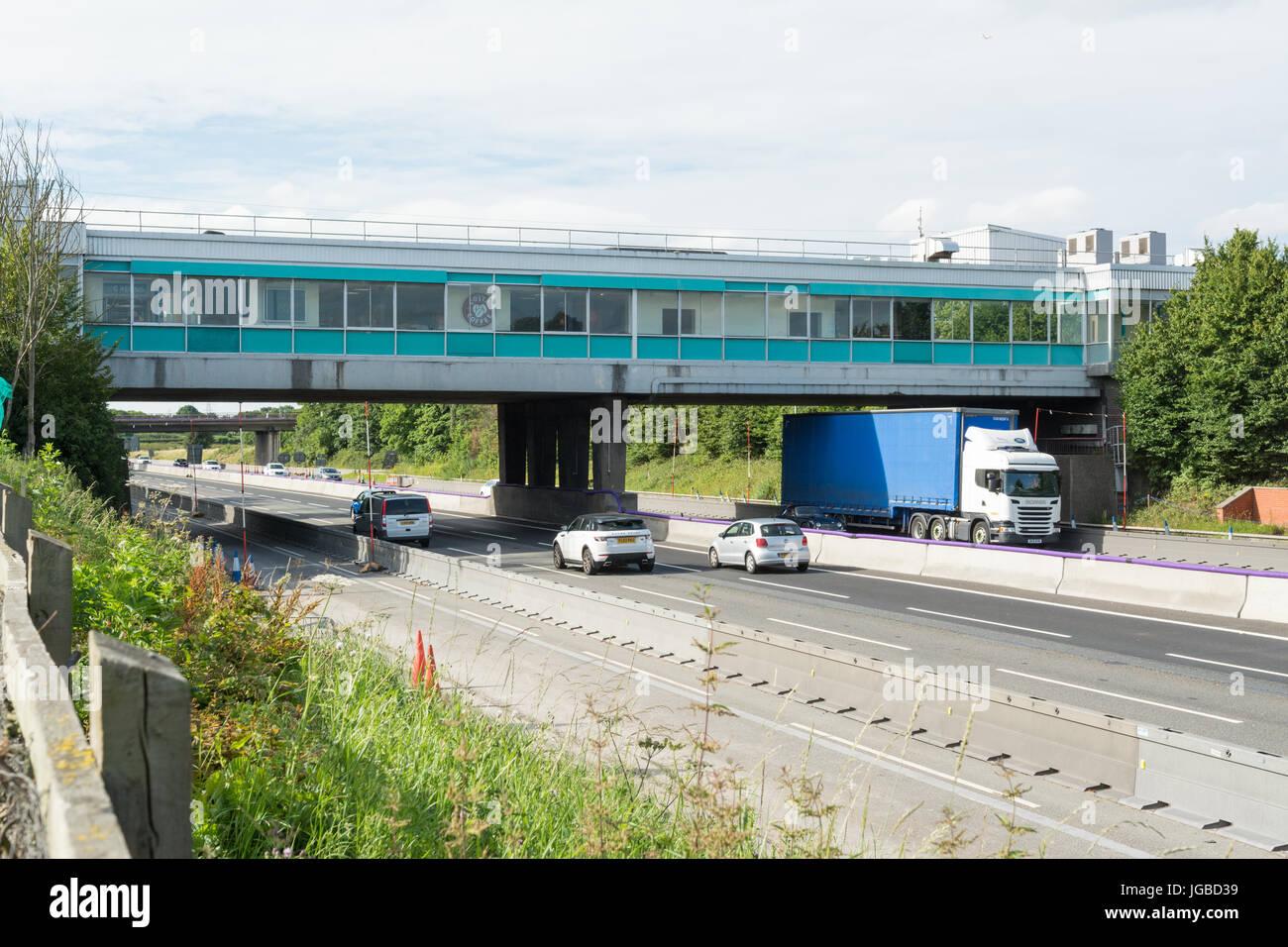Knutsford Autobahn Dienstleistungen, M6, England, UK Stockbild