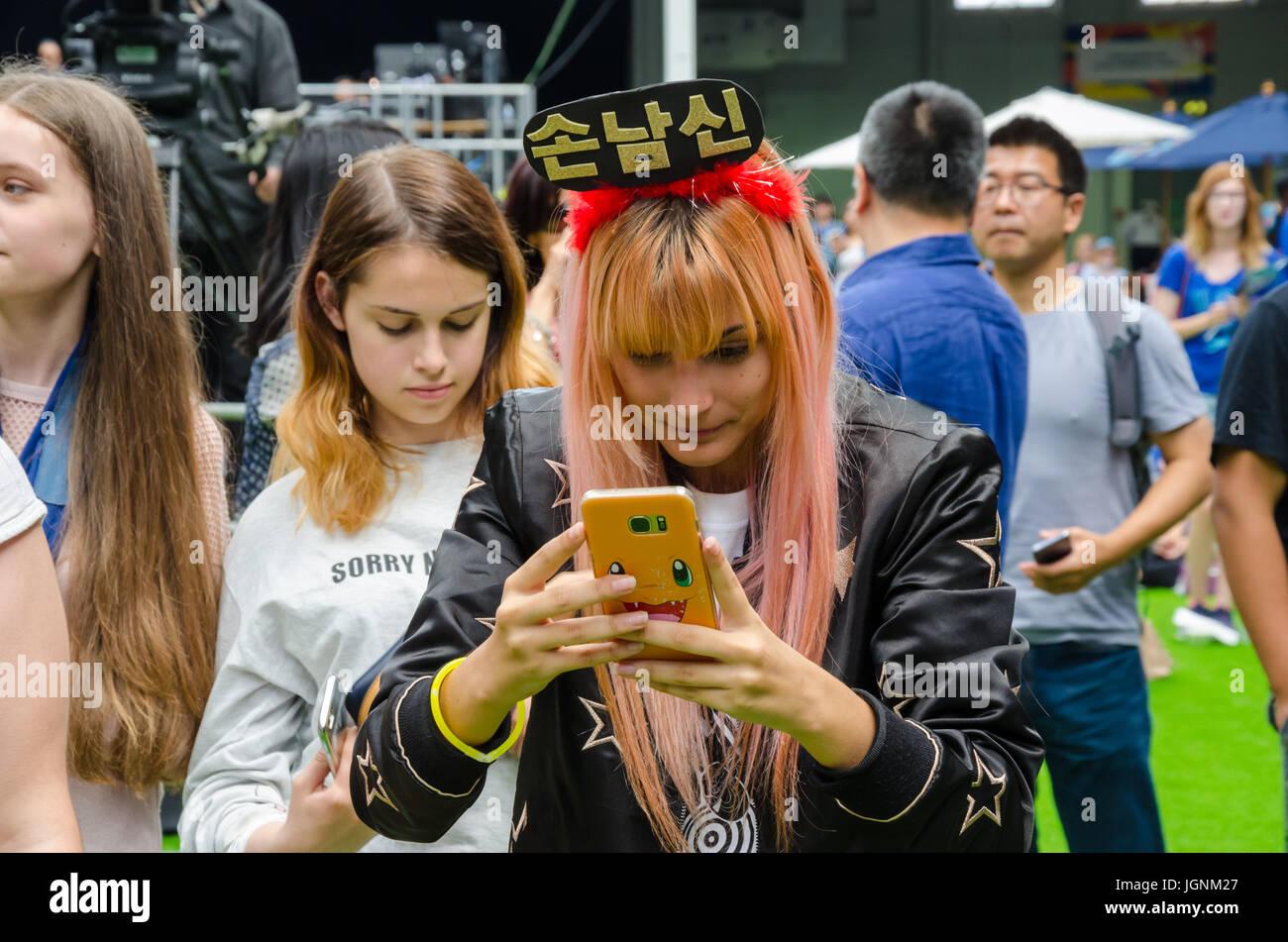 London, UK. 8. Juli 2017. London-koreanischen Festival in London Olympia. Matthew Ashmore/Alamy Live-Nachrichten Stockbild