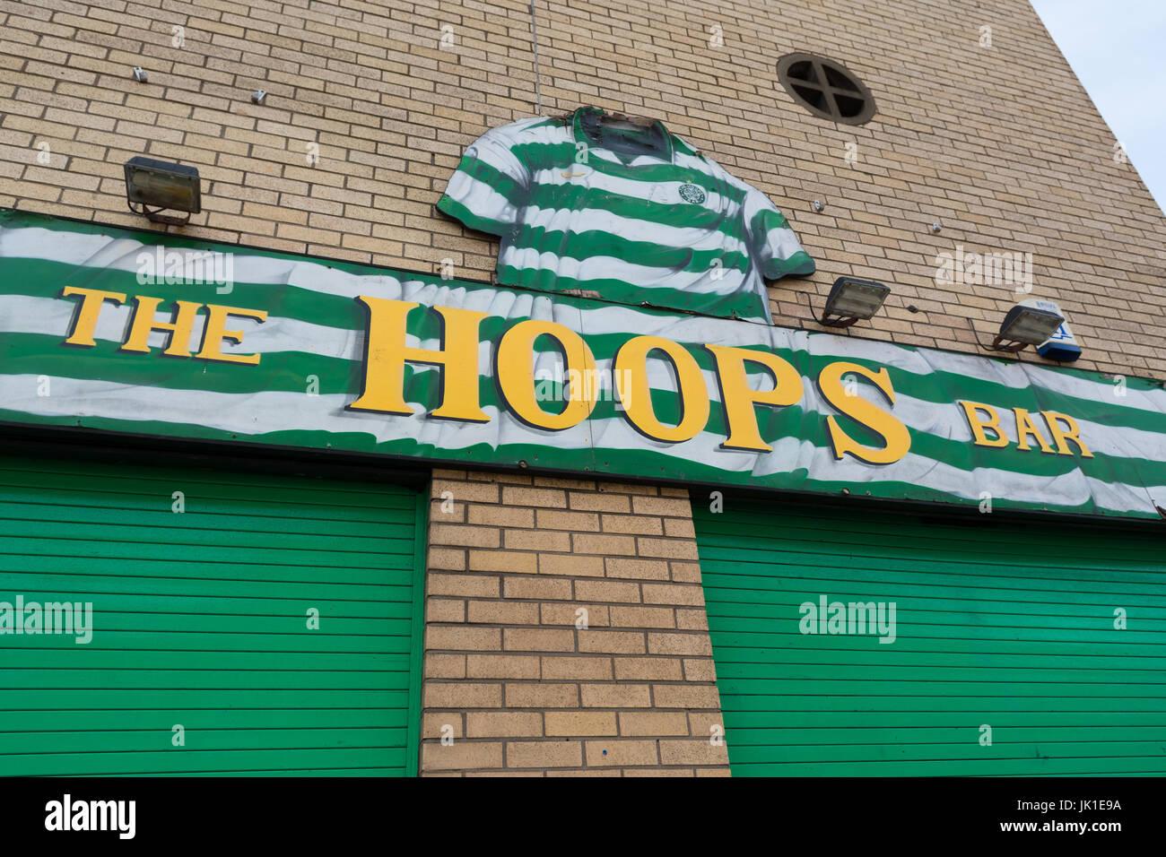 Celtic Supporters Pub Bar in Glasgow - die Überrollbügel bar in gallowgate Stockbild