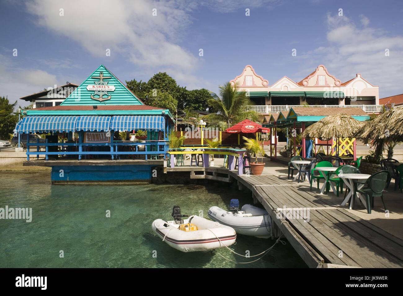 Kralendijk, Bonaire, Karel Pier, Touristen, ABC-Inseln, Kleine Antillen, Niederländische Antillen, Karibik, Stockbild