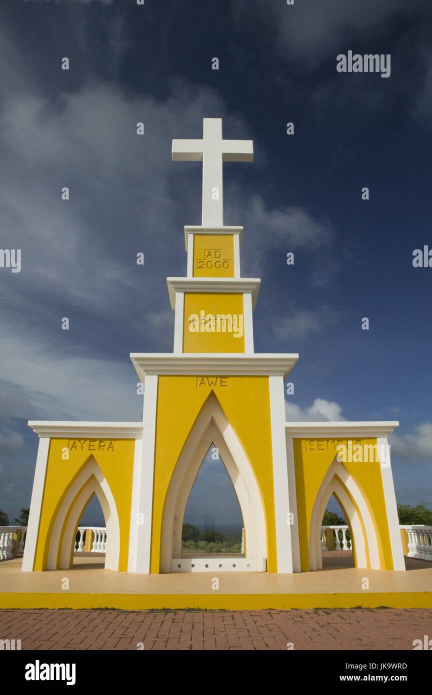 Bonaire, Seru Largu, Gedächtniskreuz, Hügel, 123m, ABC-Inseln, Kleine Antillen, Niederländische Antillen, Stockbild