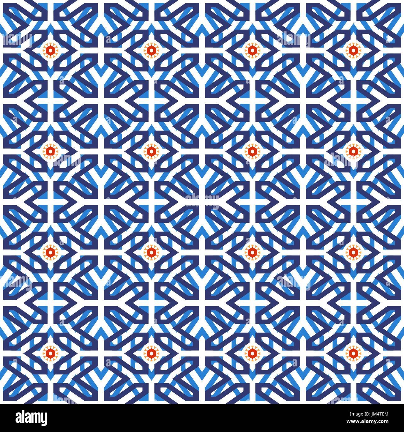 Traditionelle Arabische Keramik Mosaik Fliesen Musterdesign - Fliesen maurisch