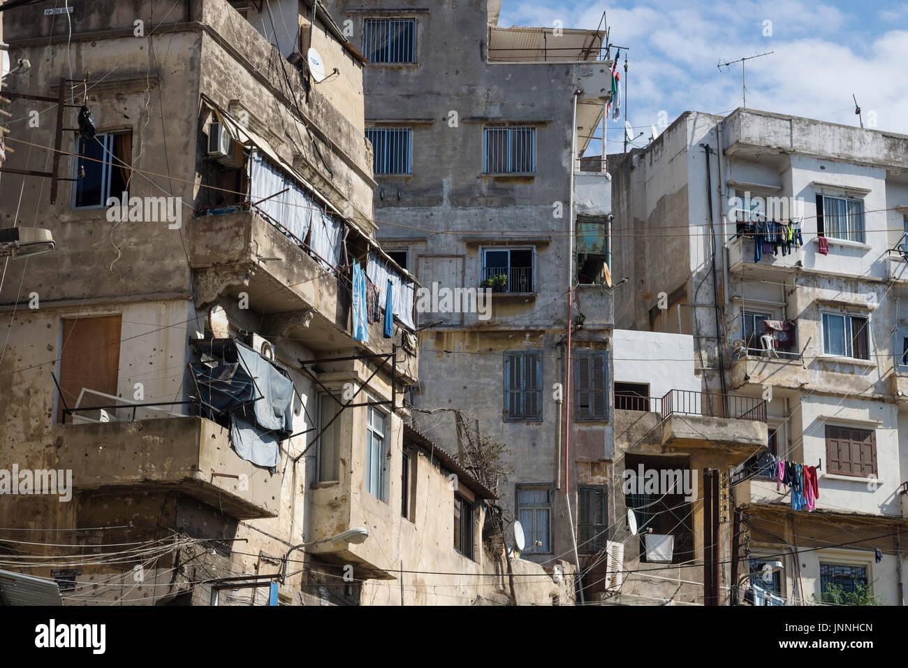 h user und balkone von tripoli libanon stockfoto bild 151065397 alamy. Black Bedroom Furniture Sets. Home Design Ideas